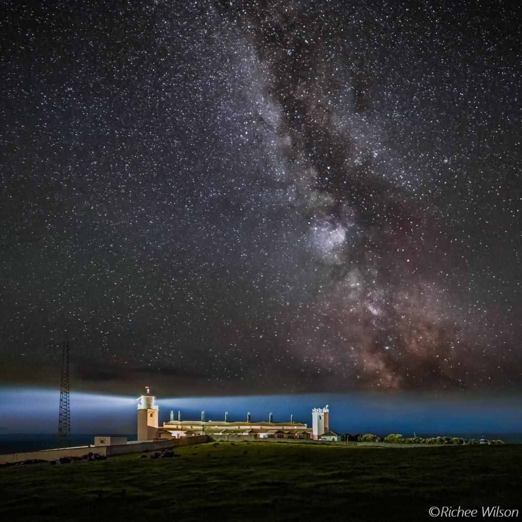 Milky Way over Lizard Lighthouse