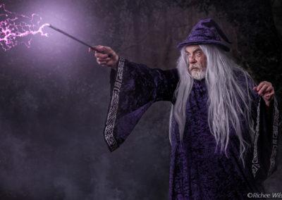 The wizard's magic